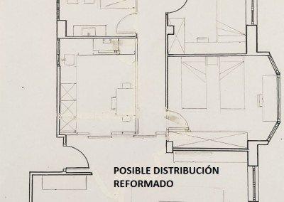 Vivienda a reformar de 100 m2 en el centro de Irun. Precio 215.000 €